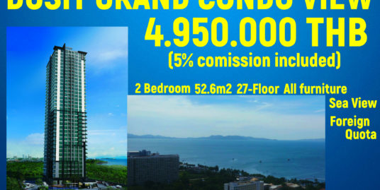 The Dusit Grand Condo View, Jomtien Pattaya.