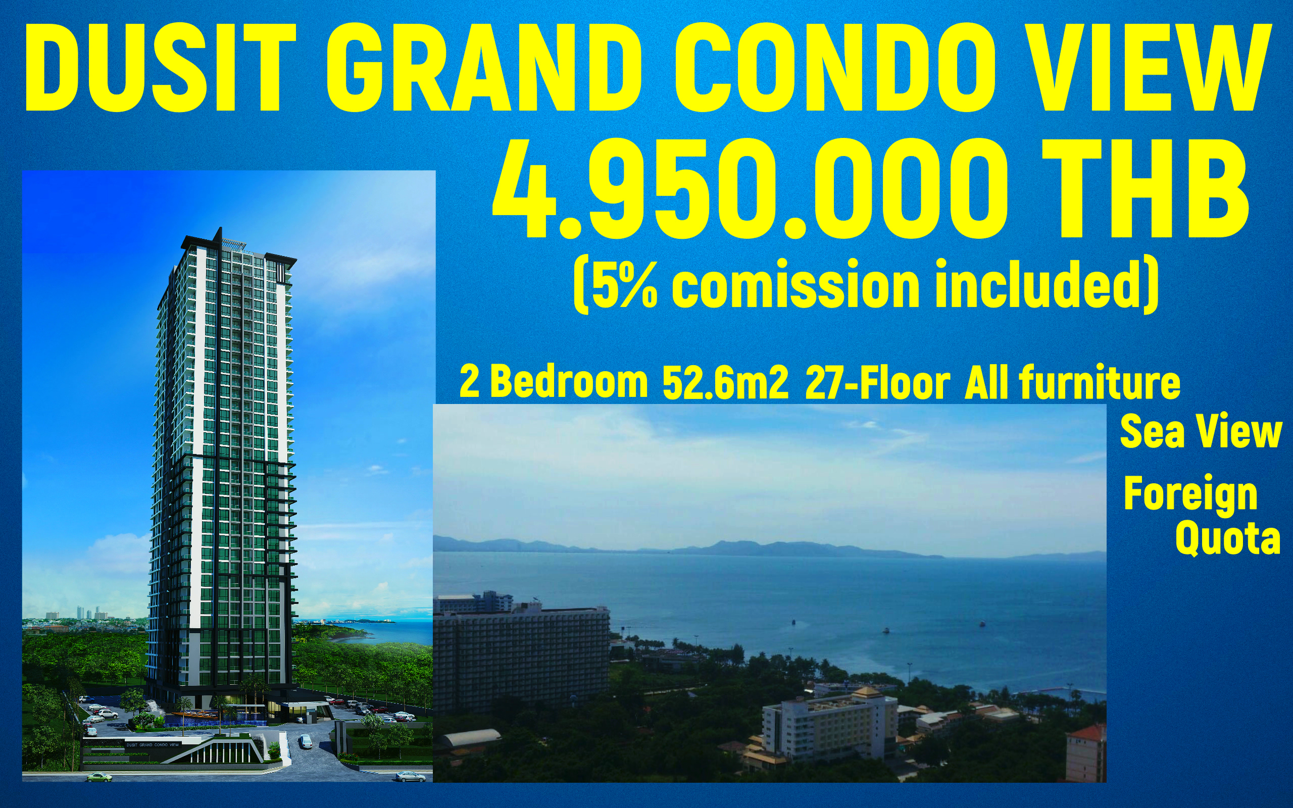 The Dusit Grand Condo View, Jomtien Pattaya.