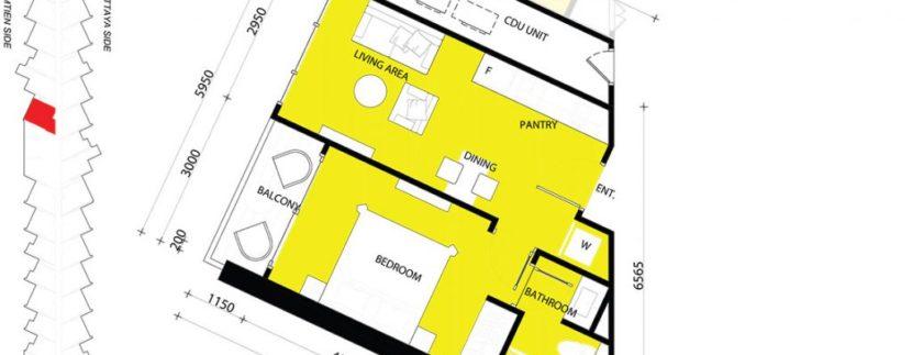 1 BEDROOM 39.50 SQM