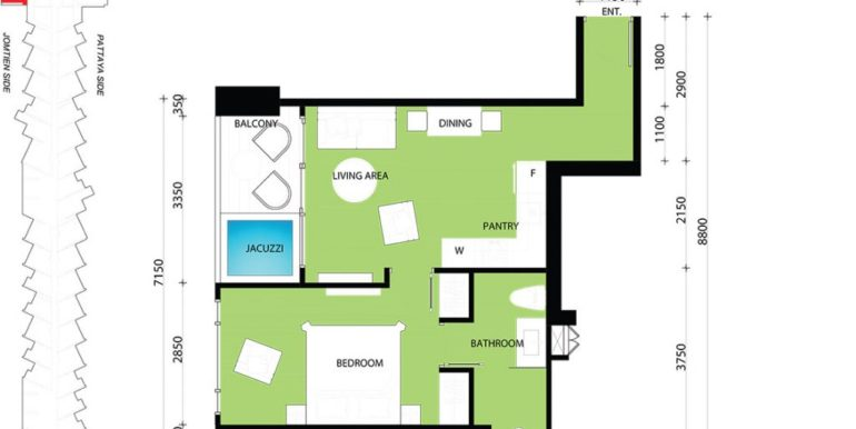 1 BEDROOM 46.50 SQM