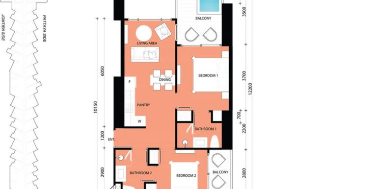 2 BEDROOM 64.00 SQM