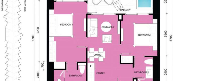 2 BEDROOM 72.00 SQM